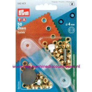 001428 / Ringen Ms Goudkleurig 4,0 Mm Prym art. nr. 542401