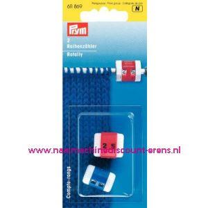 Toerenteller Rood/Blauw Prym art. nr.611869 / 001519
