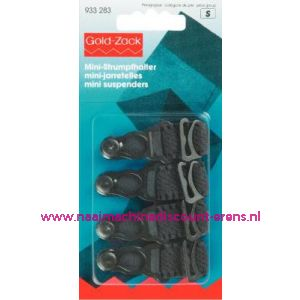 001574 / Mini-Jarretel Ruche-Veloursband Kst 15 Mm Zwart nr. 933283