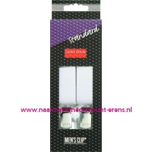001583 / Men Clips Standaard 110 Cm 25 Mm Wit Bretels art. nr. 944110