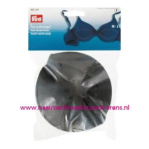 Push Up Bh Inleg-Cups One Size Zwart Overtrokken nr. 992326 - 1667