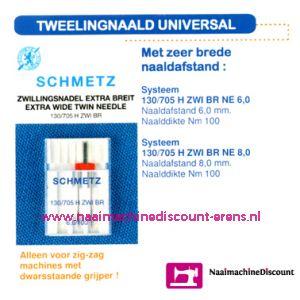 Tweeling Universal 130.705 H-ZWI-100  6,0 mm. - 1724