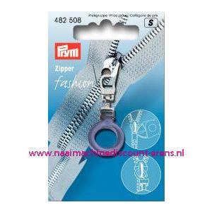 002201 / Modische Ritsenschuiver rond blauw kunsstof art. nr. 482508