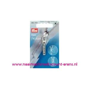002217 / Modische Schuiver Zilver met glitter prym art. nr. 482292
