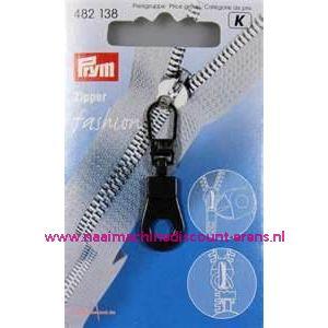 Modische Schuiver Rond Zwart prym art. nr. 482138 - 2279
