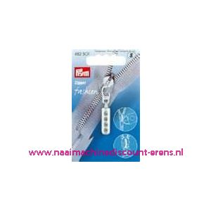 Modische Schuiver Zilver met 4 strass steentjes nr. 482301