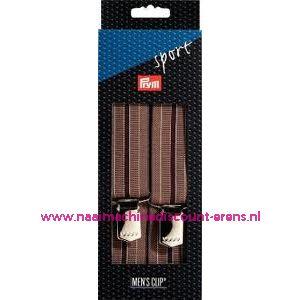 002284 / Bretels Sport bruin gestreept prym art. nr. 944553