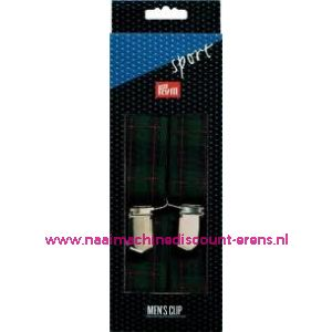 Bretels Sport groen-blauw-rood gestreept prym art. nr.944542 - 2285