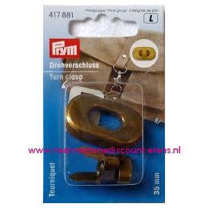 Draaisluiting voor op tassen Brons kleur prym art.nr. 417881 - 2294