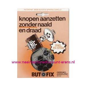 002309 / Butofix ZWART knopen aanzetten zonder naald en draad