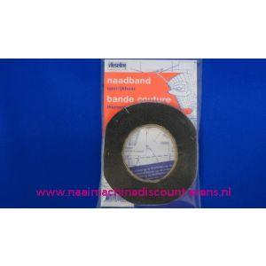 002372 / Naadband opstrijkbaar ZWART vlieseline