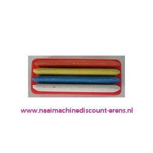 Kleermakerskrijt 4 kleuren verpakt