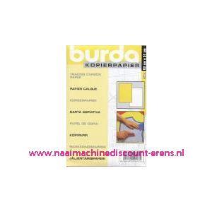 Burda Kopieerpapier GEEL - WIT 2 X 83 Cm x 57 Cm - 2433