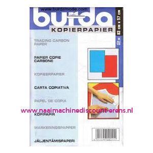 002434 / Burda Kopieerpapier ROOD - BLAUW 2 x 83 Cm x 57 Cm
