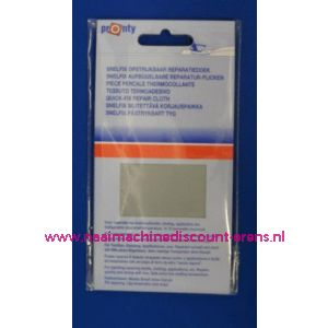 002577 / Reparatiedoek LICHT GRIJS 11 x 25 Cm