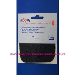 002621 / Kniestuk DONKER JEANS 11 x 10 Cm
