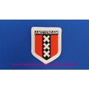 Amsterdam 3 X rood-wit schild - 2768