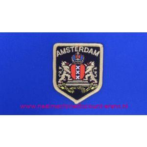 Amsterdam Wapen op Schild zwart - 2770