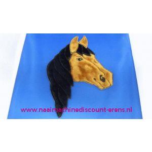 002834 / Paard Hoofd D.Bruin-Zwart
