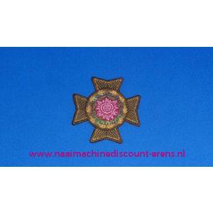 Groen Kruis met Rose Roos - 2839