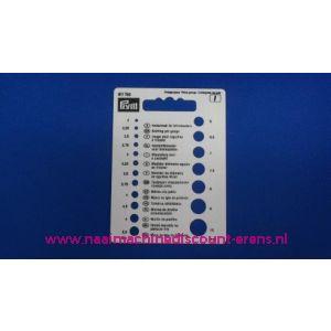 Naalddiktemeter voor breinaalden prym art. nr. 611740 / 002998
