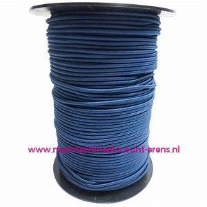 "Elastiek Koord 3 Mm per meter ""Kobalt blauw"""