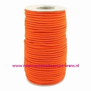 "Elastiek Koord 3 Mm per meter ""Oranje"""