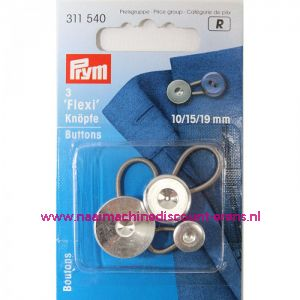001239 / Flexi Knopen Met Lus 10-15-19 Mm prym art. nr. 311540