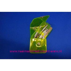 """Manicure set Luxe 4-delig """"fluor geel"""" - 3195"""