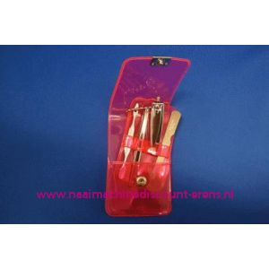 "003255 / Manicure set Luxe 4-delig ""rose"""