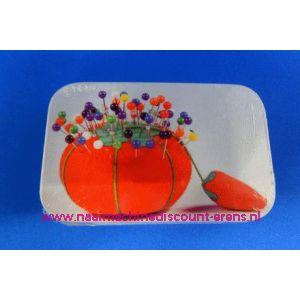 Kopspelden met gekleurde kop in Blik - 3262