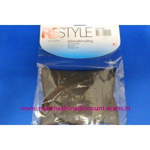Schoudervulling RESTYLE recht zwart dun art. nr. 028.201.000 - 3270