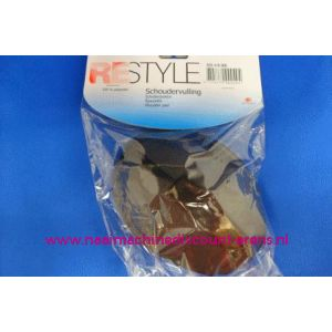 Schoudervulling RESTYLE raglan zwart met klittenband - 3282