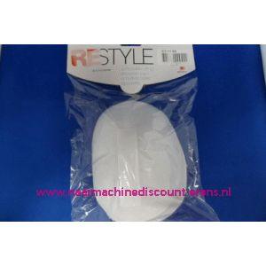 Schoudervulling RESTYLE raglan wit met klittenband - 3283