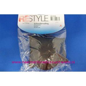 003285 / Schoudervulling RESTYLE raglan zwart klein