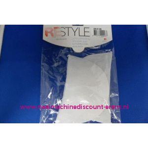 Schoudervulling RESTYLE recht wit dun art. nr. 028.201.009 - 3288