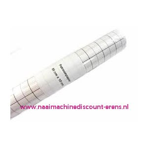Patroonpapier geruit 80 Cm breed x 15 meter lengte - 3462