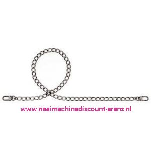 006030 / Handvat voor Handtas Bea donker zilver prym art. nr. 615185
