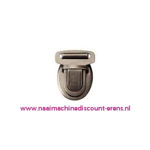 TT-slot donker zilver/zwart kleur metaal prym art. 417976 - 6031
