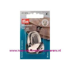TT-slot zilver kleur metaal prym art. nr. 417975 - 6032