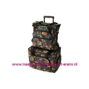 """Naaimachine tas met wielen + uittrekbaar handvat """"EXTRA LARGE"""" 077.500.058"""