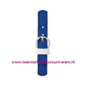 006145 / Sluiting leder imitatie Kobalt prym art. nr. 416555