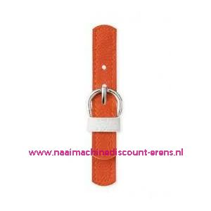 006181 / Sluiting leder imitatie Oranje prym art. nr. 416554