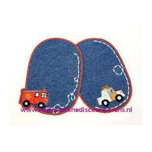 Kniestukken jongens  jeans strijkbaar prym art. nr. 929151 - 6201
