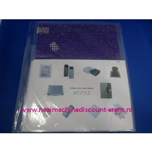 "006290 / Zelfklevende Glitter Stickers ""RESTYLE"" paars"