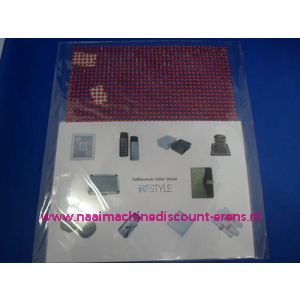 "006301 / Zelfklevende Glitter Stickers ""RESTYLE"" rood"