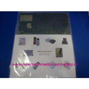 """006305 / Zelfklevende Glitter Stickers """"RESTYLE"""" mos groen"""