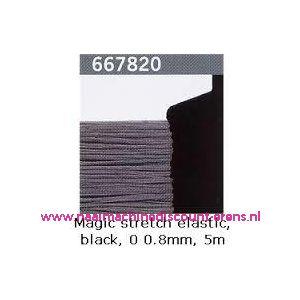 009372 / Gutermann Kralen Magic Stretch Zwart art. 667820