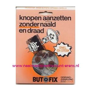 009590 / Butofix BRUIN Knopen aanzetten zonder naald en draad.