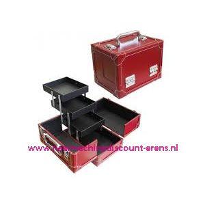 009899 / Leatherlook koffer M rood prym art. nr. 612812